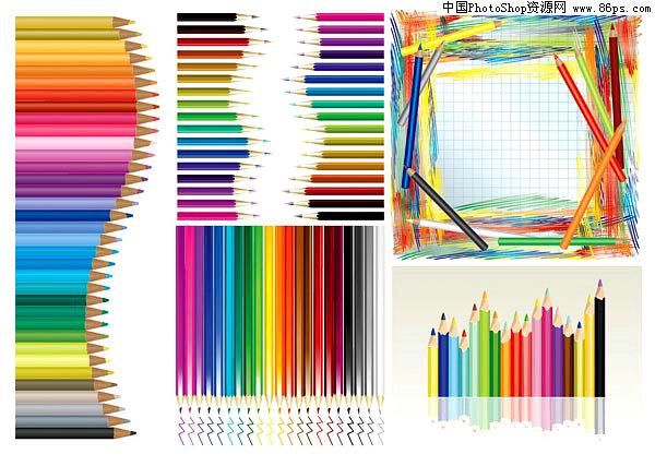 ai格式带橡皮擦的铅笔矢量素材.