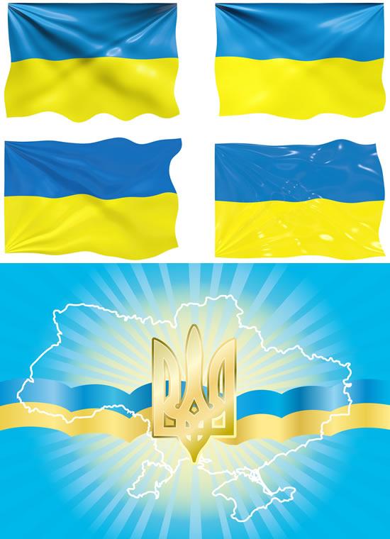帜图形.乌克兰国旗国徽.eps素材图片