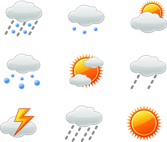 矢量各式图标.天气情况标志图标.ai素材
