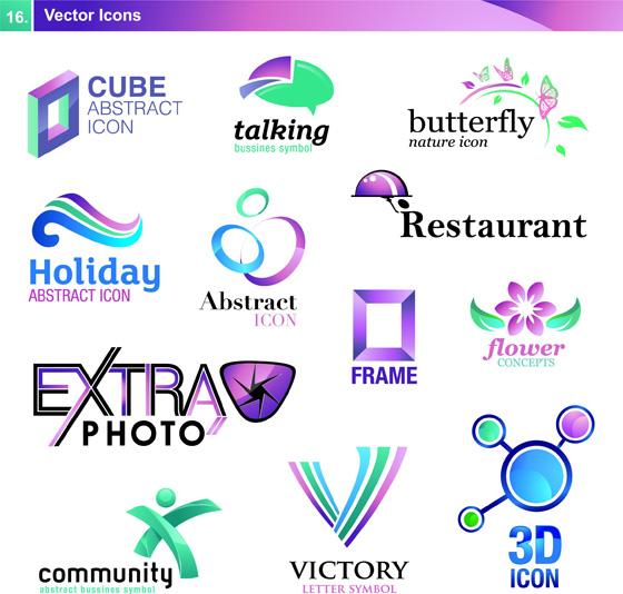 ...标志设计,蓝色科技LOGO,3D公司标志,公司LOGO,网站LOGO,...