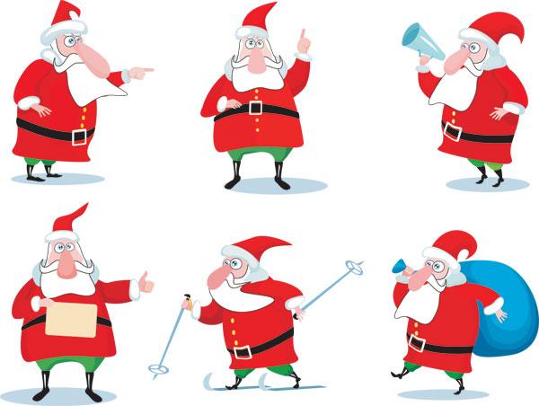 矢量圣诞节.卡通圣诞老人.eps素材