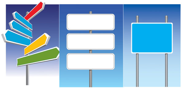 公路标志矢量素材,布告板,告示板,路标,路牌,方向标,导航,矢量素材