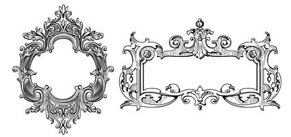 矢量花边.欧式华丽装饰框.eps素材