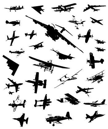 ai格式,矢量素材,黑白,飞机,战斗机,隐形战机,战争,军事