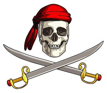 矢量潮流.矢量海盗标志.eps素材