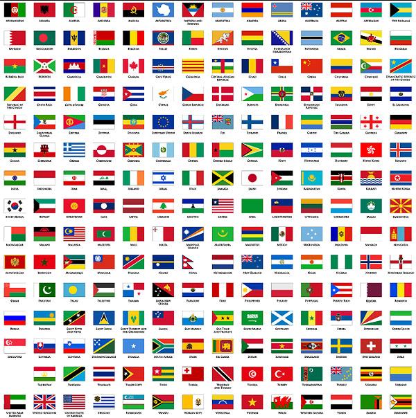 世界国家国旗名字,所有国家国旗的名字,国家名字及国旗,全世高清图片