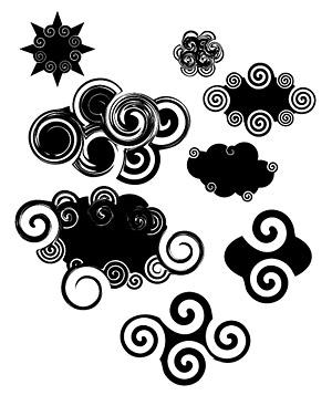 矢量传统.抽象云纹.eps素材