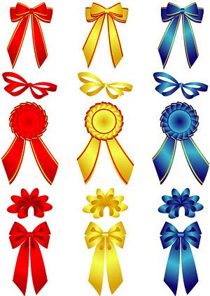 eps素材 蝴蝶结与胸章矢量素材,eps格式,矢量,蝴蝶结,胸章,襟章,丝带