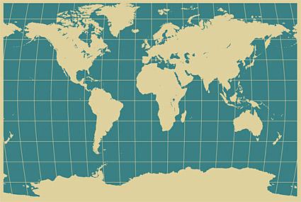 世界地图矢量.ai素材 [中国photoshop资源网
