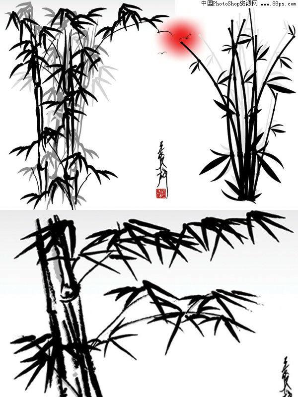 eps格式水墨竹子矢量素材免费下载