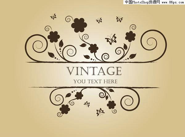 关键字:矢量蝴蝶,矢量花纹,矢量花边,vintage,酒标,古典花纹,矢量素材