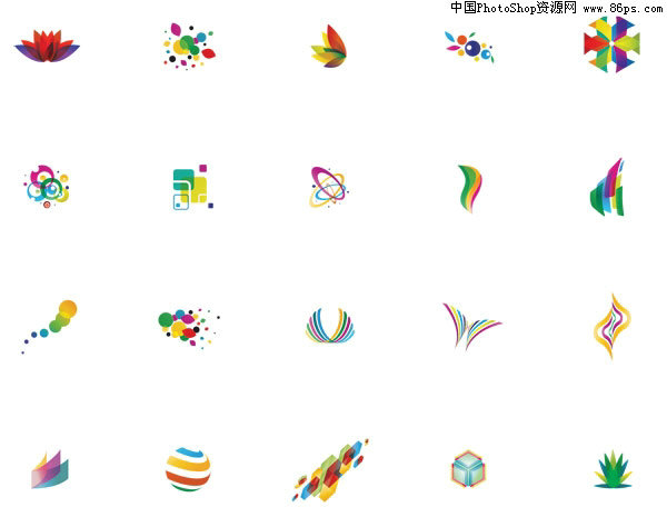 ai格式20款五彩缤纷的logo设计免费下载[中国设计设计关系的交互ui与图片