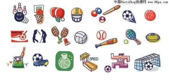 ai卡通韩国格式矢量体育用品风格线条元素免费下载冬天v卡通怎么穿图片